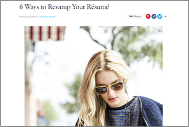 6 Ways to Revamp Your Résumé popsugar