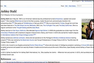 Ashley Stahl Wikipedia