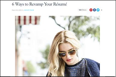 6 Ways to Revamp Your Résumé popsugar